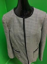 Tahari ASL Women's Jacquard Textured Open -Front Jacket Size 14 Yellow /... - $19.54