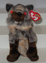 Vintage TY 2000 Howl the The Wolf Beanie Baby plush toy - $7.25