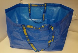 3 blue IKEA FRAKTA Storage carry Bags *fits19 Gallons* Sturdy!!! New & U... - $10.72