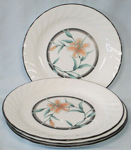 Corelle Corning Tiger Lily Salad Plate set of 4 - $24.64