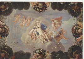 ceiling of kings dressing room hampton court good condition postcard