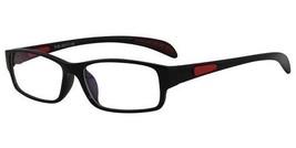 66d410d70fe EBE Reading Glasses Mens Womens Rectangular Black Red Anti Glare Acetate  Frame -  16.98+