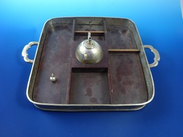 Antique Silver Plated Tray with Handles and  Wo... - $63.75