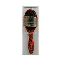 Earth Therapeutics Regular Natural Bristle Cushion Hair Brush w/ Leopard... - $13.49