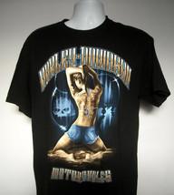 Harley Davidson Pig Trail Rogers Arkansas T Shirt Mens Large Sexy Girl Logo - $27.67