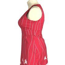 Spense Dress 12 Red White Stripe Silhouette Flower Empire A Line Rockabilly L image 3