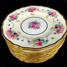 Antique Spode Copeland's China England Hand Painted Floral Dessert Plate... - $650.46