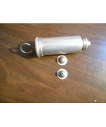 Vintage Silver Tone Icing Cookie Press Three Icing  Tips 3 1/2 inch - $9.52