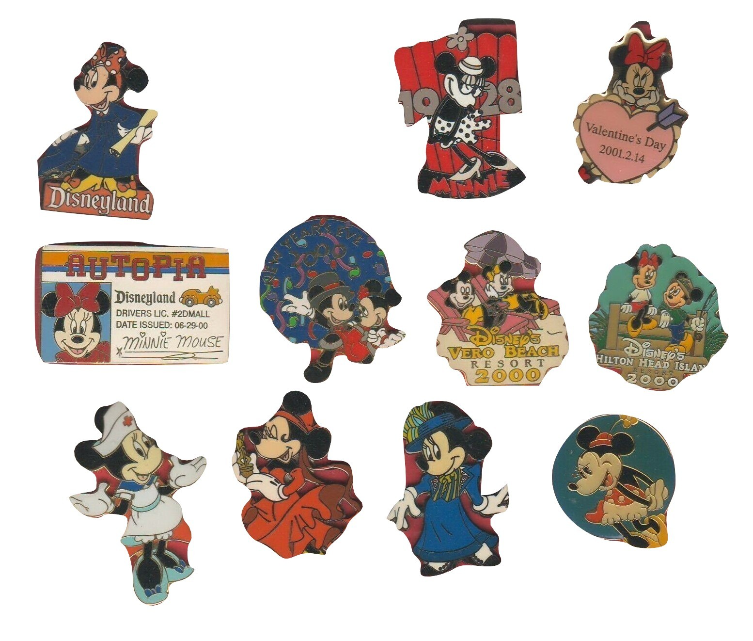 Disney Minnie Mouse All pins are Authentic Disney pins full body and more