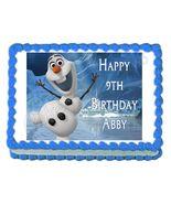 Frozen Olaf Edible Cake Image Cake Topper - $8.98+