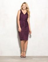 Lovely by Adrianna Papell Sleeveless Knot Front Jersey Sheath Dress Sz 1... - $29.53