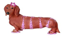Adorable Bikini Beauty Doxy Collectible Wiener Dog Dachshund Figurine - £15.18 GBP