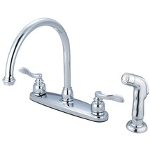 "Nuwave French Double Handle 8"" Centerset Kitchen Faucet with Matching Sprayer - $67.91"