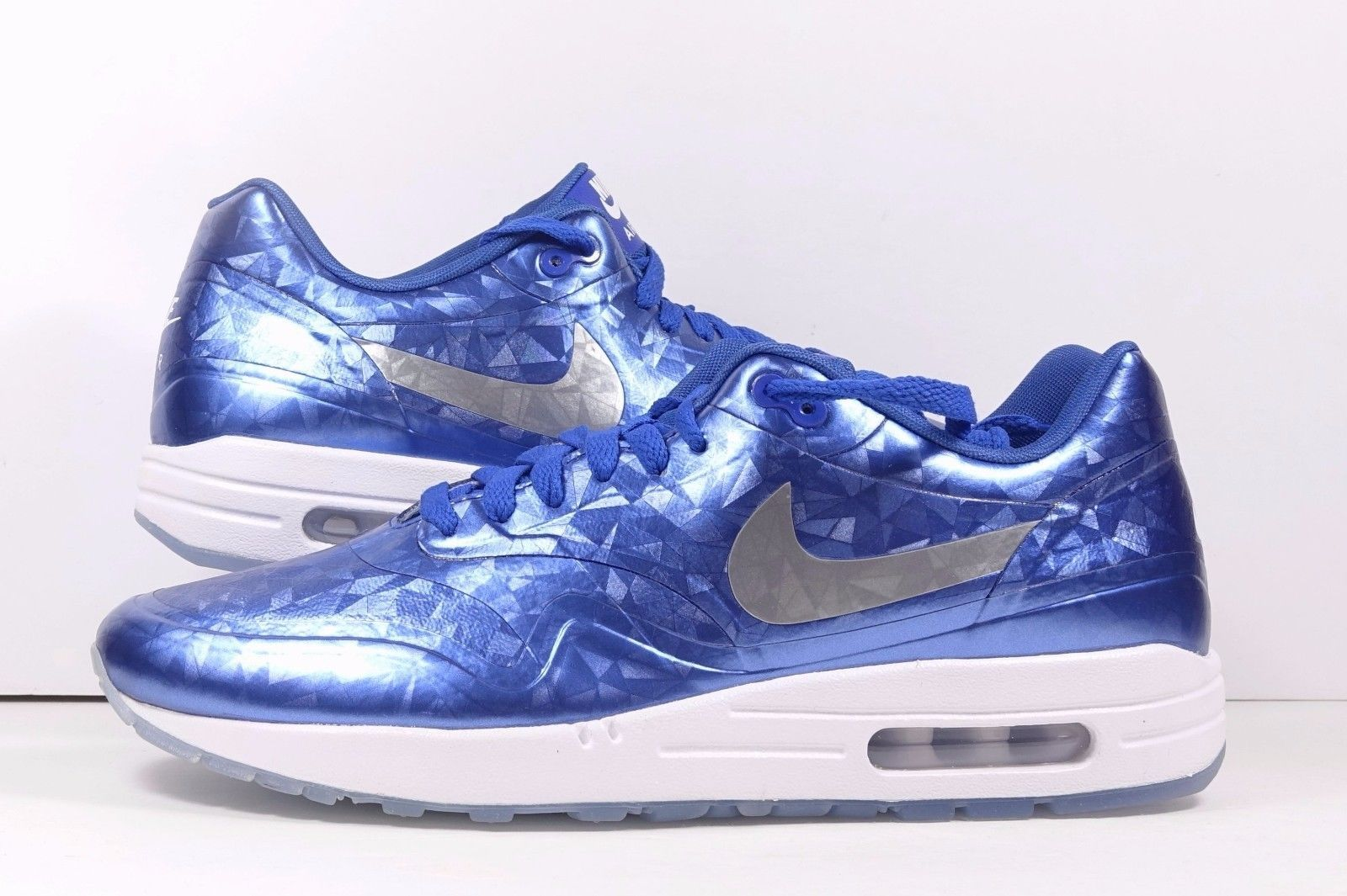 buy online 635ce 930e6 Nike Air Max 1 ID Blue White Ice Sole Sz and 50 similar items. S l1600