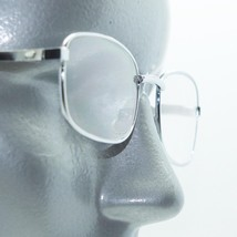 Simple Rectangle Style Reading Glasses Polished Silver Metal Frame +1.50 Lens - $16.00