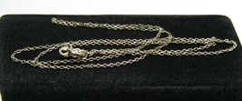 ".925 Sterling Silver 18"" Single Link Chain Necklace Italy Delicate 1g - $19.99"