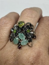 Vintage Emerald Ring 925 Sterling Silver Size 6.5 - $153.45