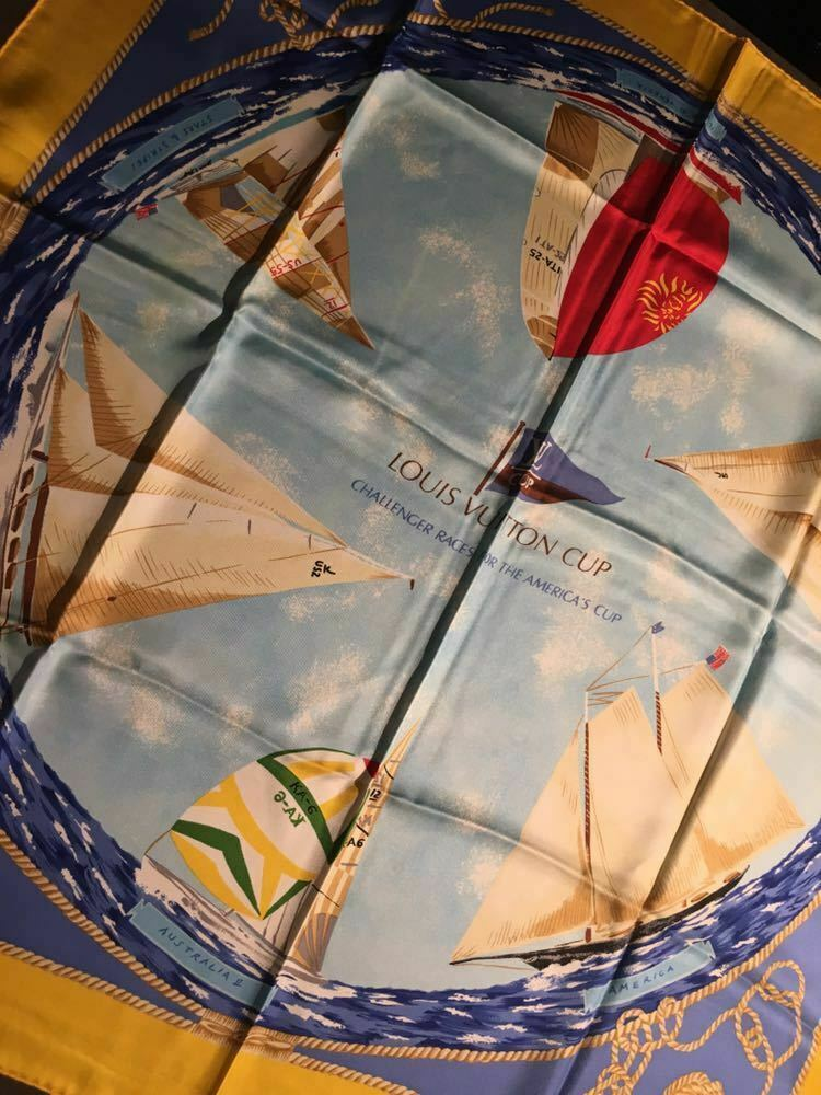 LOUIS VUITTON LV Scarf Vuitton Cup Pattern
