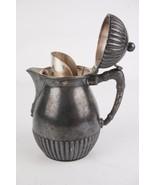 """Antique Wilcox Silver Plate Co. Teapot Creamer c1875 Patent 1876 7"""" Rare  - $42.04"""