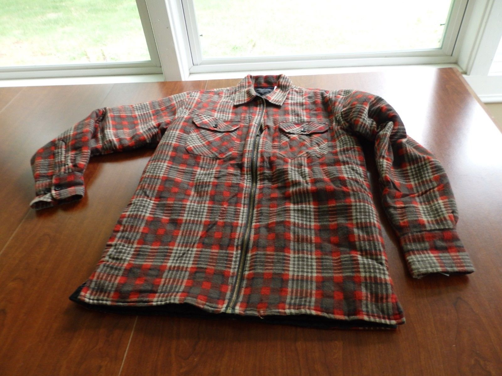 Primary image for Long-Sleeve Plaid Button Front Wool Shirt Boys XL