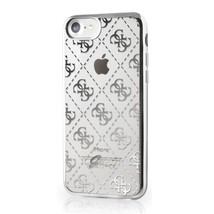 Guess Soft TPU Case - designer case for iPhone 7,8 transparent Silver Fr... - $36.25
