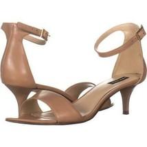 Nine West Leisa Ankle Strap Sandals 639, Natural, 9 US - $28.79