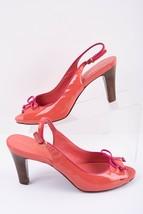 Cole Haan Womens Slingbacks Heels Pumps Shoes Sz 8.5 Pink N Air Peep Toe - $24.74