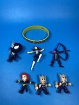 Marvel Mini Figure Lot - Venom, Black Spiderman, Thor And More - $12.05