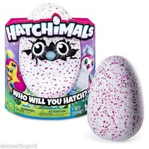 HATCHIMALS PENGUALAS EGG TOY 2016 SPIN MASTER PINK YELLOW WHITE RARE EXC... - $199.99