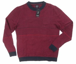 NEW ALFANI RED VELVET BLACK MULTI TEXTURED STITCH KNIT RIBBED TRIM SWEAT... - $12.86