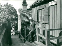 Vintage photo of The author Per Anders Fogelström at Stista Styverns stairs - $9.41