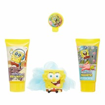 SpongeBob SquarePants 4 Pc Soap & Scrub Bath Gift Set Birthday Girl Spon... - $14.83