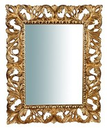 W82xDP5xH101 cm Sized Made in Italy Wood Made White Finish Wall Mirror V... - $538.41