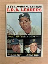 1964 NL ERA Leaders (63) Topps Baseball Card #1 (Original) - $29.70