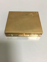 Vintage Jewelry Makeup Case Gold Tone Box - $2.00