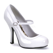 "FUNTASMA Pretty-50 Series 4 1/2"" Heel Platform Pump - White Patent - $42.95"