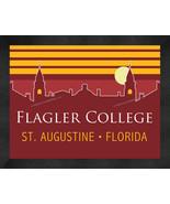 Flagler College Saints 13 x 16 Uscape with Retro Skyline Framed Print  - $39.95
