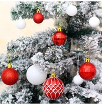 50Pcs Red And White Christmas Balls For Home Christmas Tree Pendant Deco... - $36.99