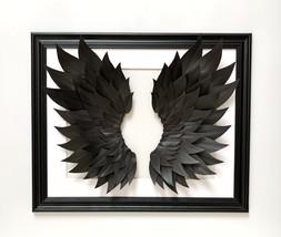 wings, painting with wings, black wings, big wings,painting in the bedroom - $65.73