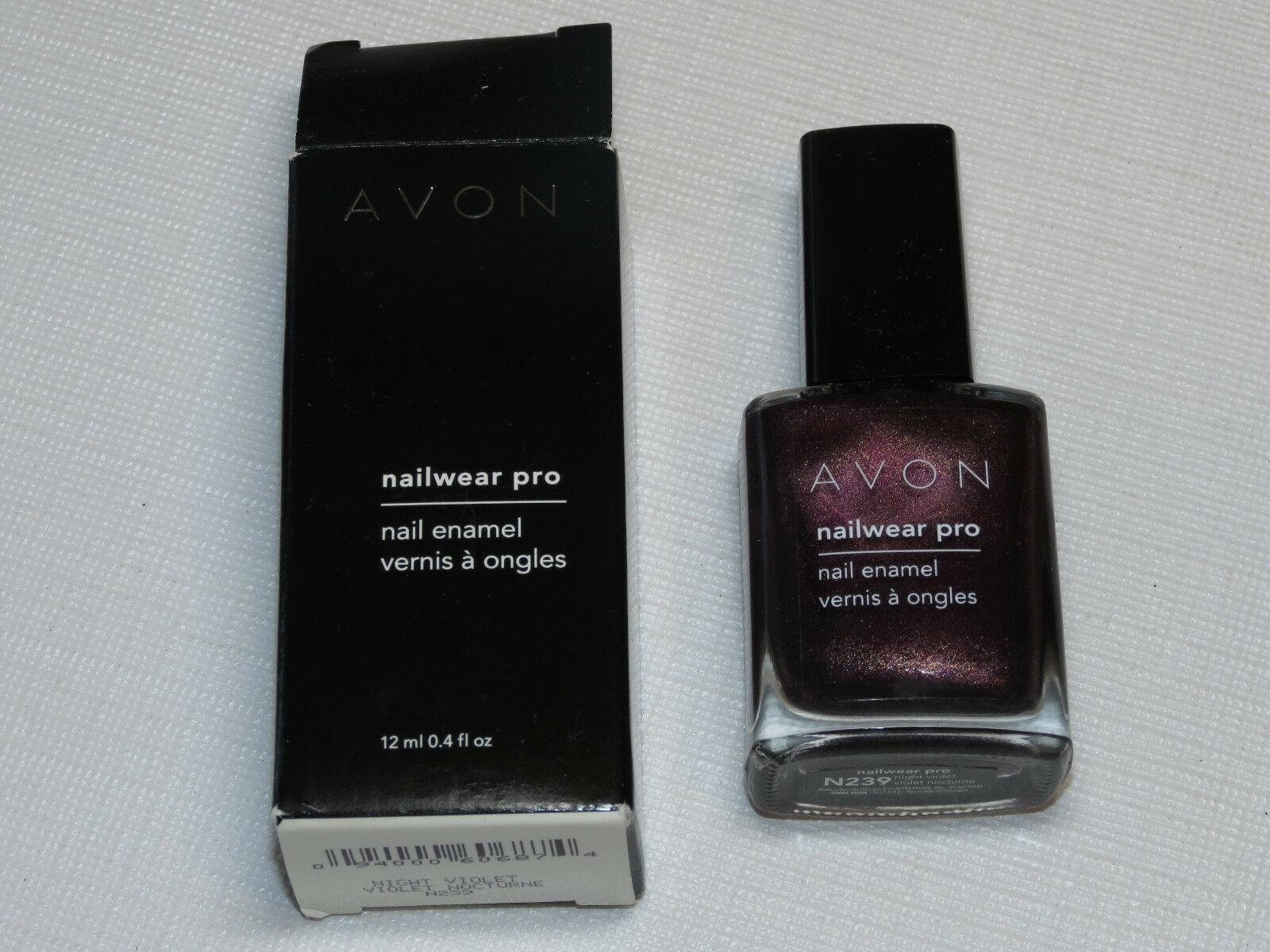 Avon nail Wear Pro Enamel Night Violet 12 ml 0.4 fl oz nail polish mani pedi - $19.68