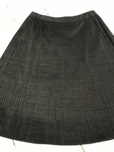 Anne Klein Women's Skirt Black Fully Lined Pleated Skirt Size 2 - $19.79