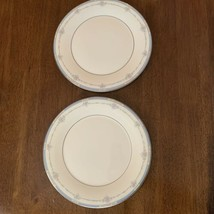 """Royal Doulton Lisa  10 1/2"""" Dinner Plates Fine China Pink Blue Flowers Lot Of 2 - $29.69"""