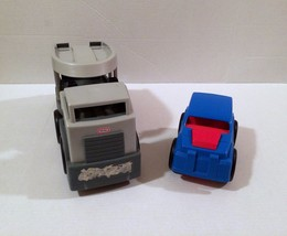 Little Tikes Rugged Riggz Semi Truck Hauler Blue Car RARE HTF! - $19.79