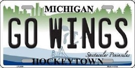 """NHL Detroit Go Wings License Plate State Background Metal Tag  U.S.A."""" Red Wings - $10.84"""