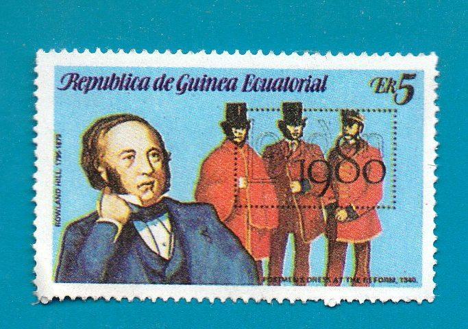 REPUBLICA DE GUINEA ECUATORIAL #1769 AWN 5 multicoloured  SIR ROWLAND HILL 1980 - $1.99
