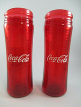 Coca Cola 14 oz Chisel Tumbler Red Insulated BPA Free Plastic Set of 2 - $23.76