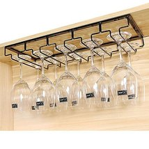 E Support Under Cabinet Stemware Rack Metal Wall Hanging Wine Bottle Gla... - $25.73