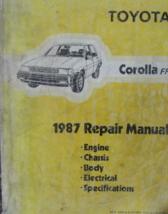 1987 Toyota Corolla Ff Service Repair Workshop Shop Manual Oem Worn - $24.74