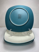 """4 Noritake 8.5"""" Salad Plate COLORWAVE TURQUOISE Model 8093 - EXCELLENT - $31.26"""