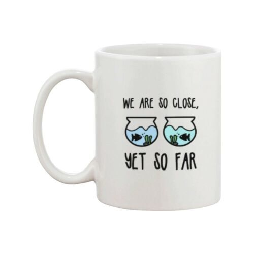 Long Distance Relationship Ceramic Mugs Cute Gift Idea - I Really Miss You image 2